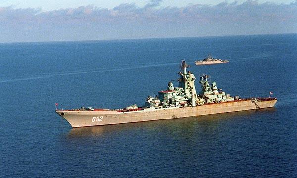 Великая страна СССР,атомный ракетный крейсер «Киров» в 1989 году