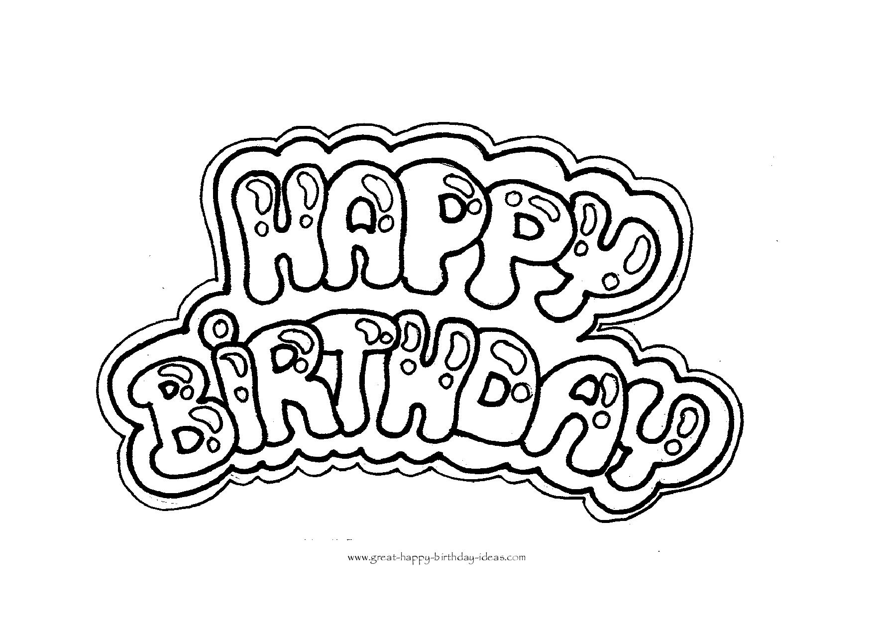 Happy Birthday Coloring Letters
