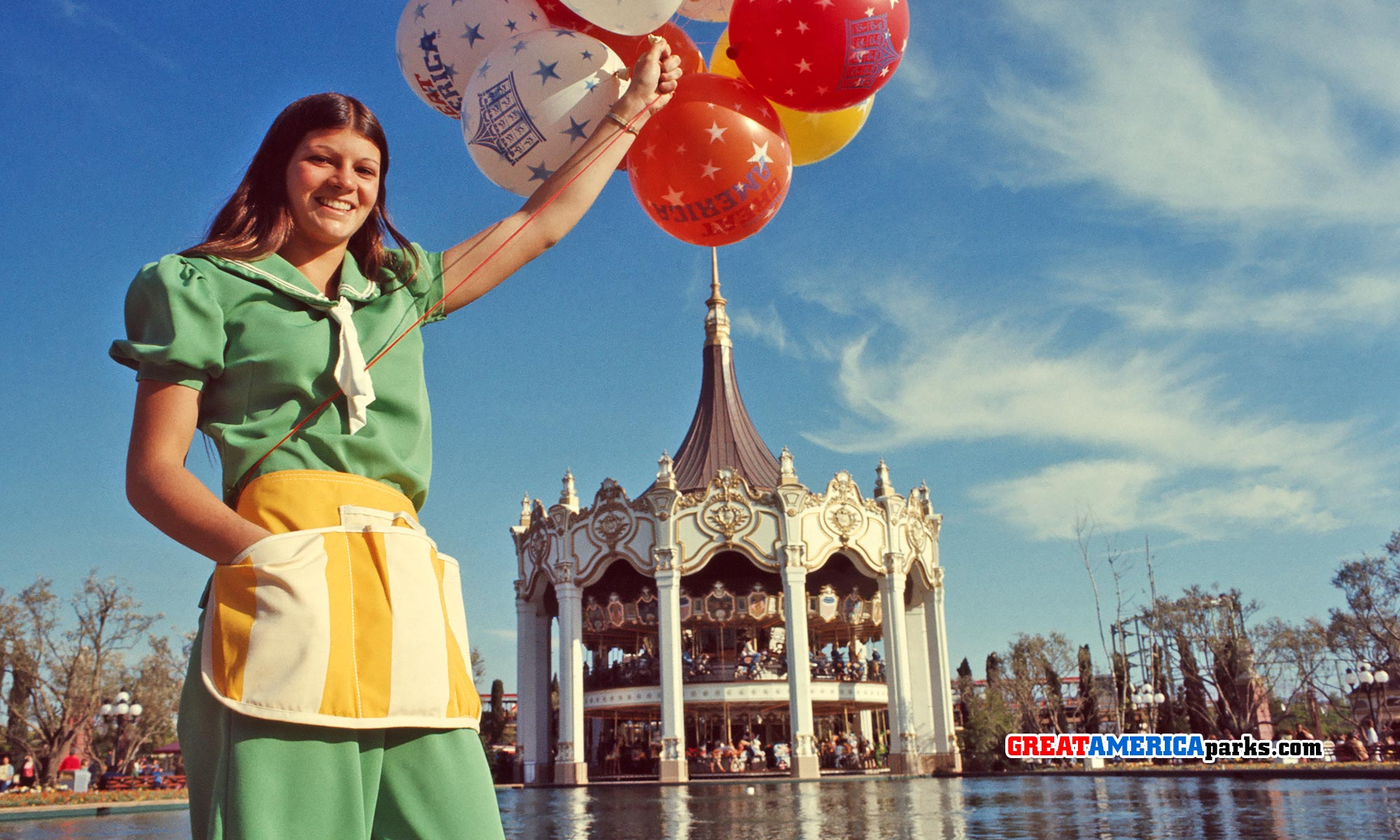 Balloon vendor in Carousel Plaza at Marriott's Great America