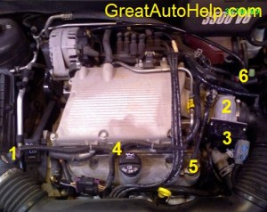 GM 3500 V6 Engine Sensor Locations Picture