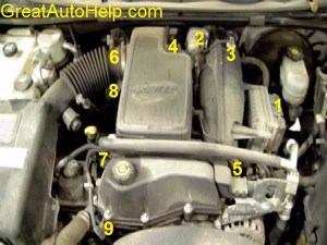 42L Inline 6 Cylinder 4200 Engine Sensor Location Pictures