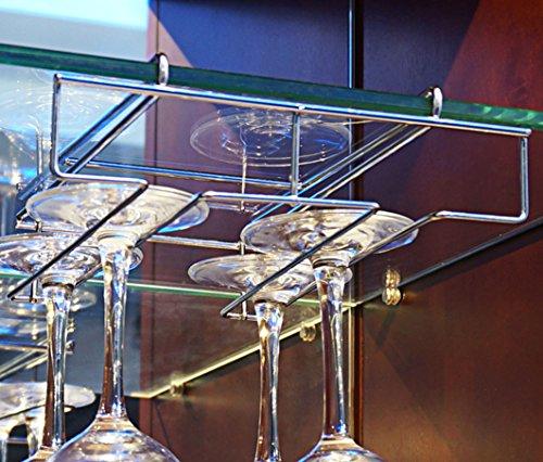 mkono under cabinet wine glass stemware