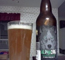 Laughing Dog Alpha Dog Imperial IPA: Big, Bold, Arrogant, and Highly Appealing