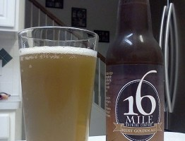 16 Mile Blues Golden Ale: Good Session Ale and Good Introductory Craft Beer