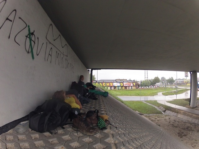 Camping Under a Bridge in Poland