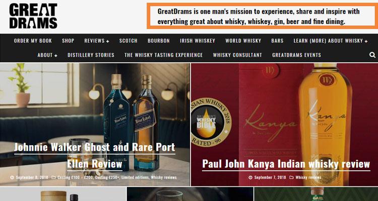 whisky blogger