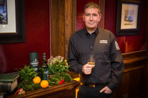Distillery manager, John Campbell at The Goring for the Laphroaig Lore launch event