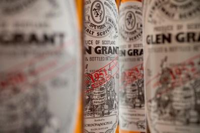 Glen Grant Collection Bottles close up