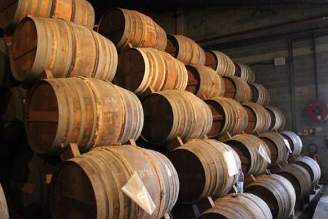 cognac-barrels-aging-cellar