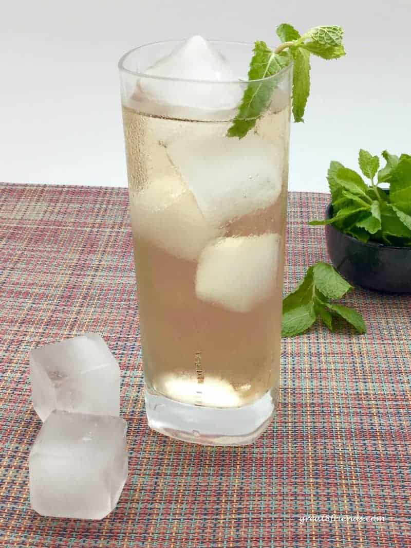 This makes 1 drink, feel free to double or triple or...the freshness will definitely tempt you for just one more!