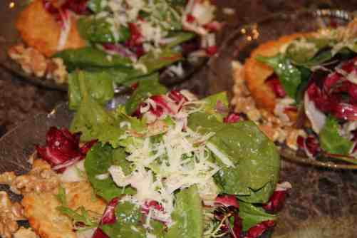 Savory Cheese Tartlet with Salad