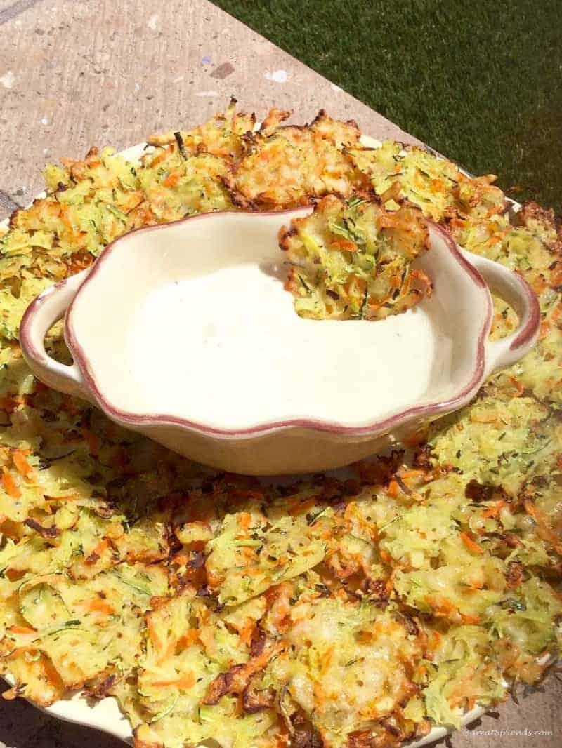 Zucchini Paremesan Crisps