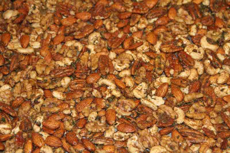 rosemary and spice nuts baked