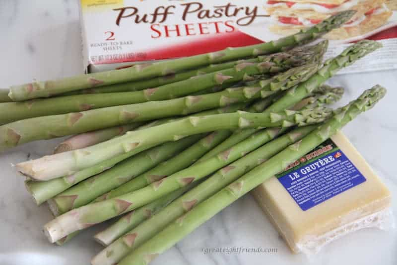 Asparagus Gruyere Tart ingredients