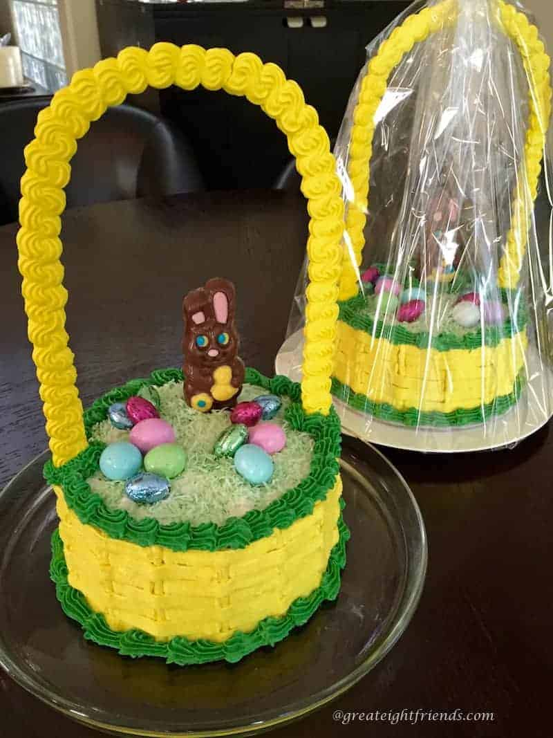 A tisket a tasket this cakes an easter basket great eight easter basket cake negle Gallery