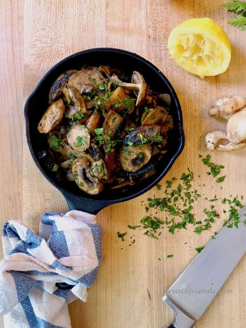 We love the Spanish version of Mushrooms in Garlic Sauce, the addition of the white wine and lemon juice takes it from normal to phenomenal!