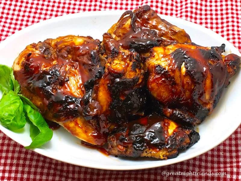 Barbecued Chicken Serving