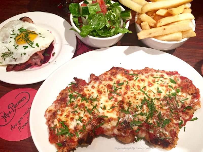 Chicken Parma Aussie Style Meal