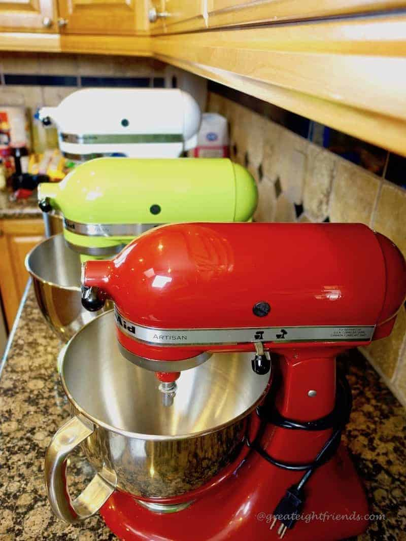 Christmas Cookie Bake 3 KitchenAid Mixers