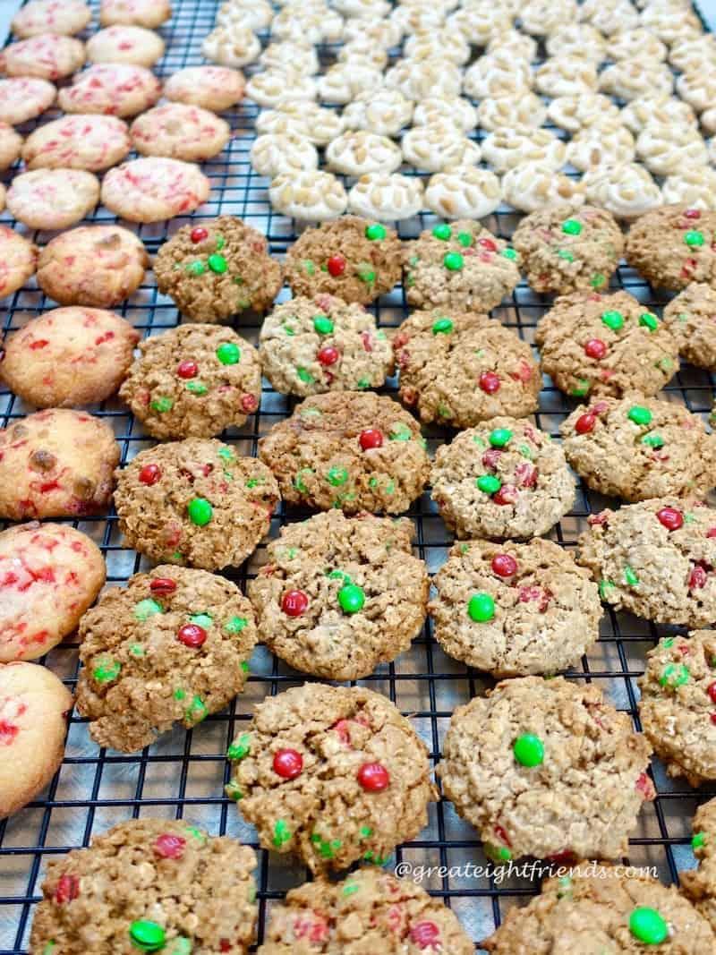 Christmas Cookie Bake peppermint-mandm-pignolis