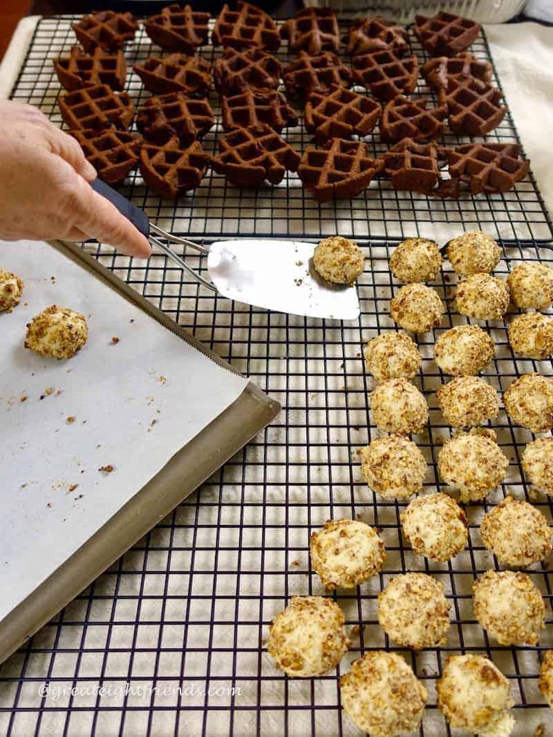 Christmas Cookie Bake waffle meltaways