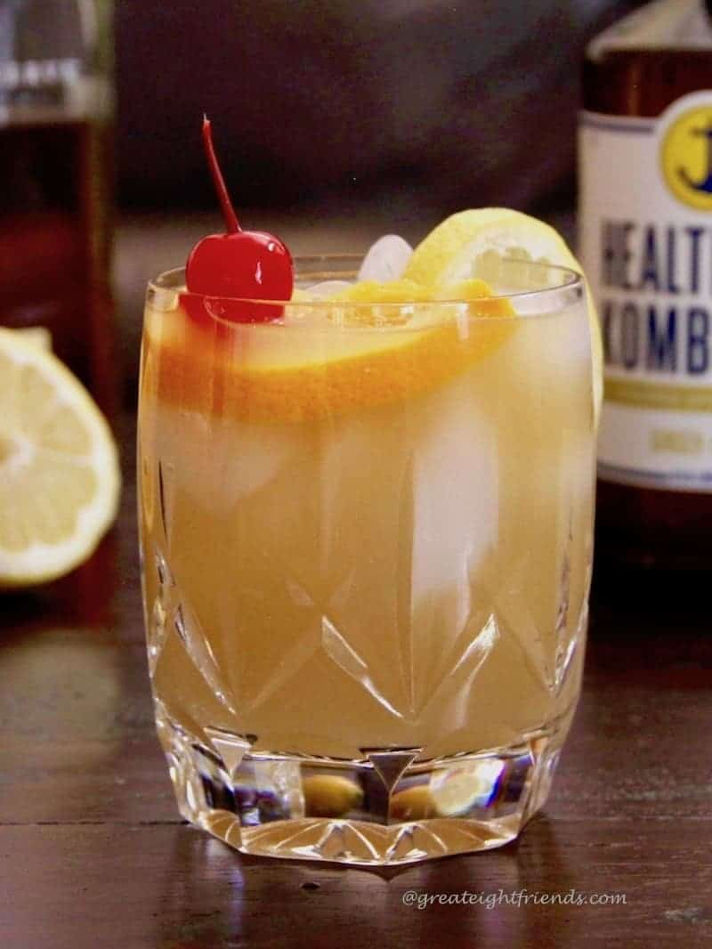Clink then drink kombucha whiskey sour