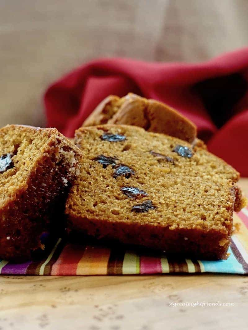 Use fresh pumpkin to make this Roasted Pumpkin Olive Oil Quick Bread for the perfect holiday bread that can be made ahead of time and frozen.