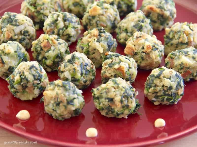 Super Simple Spinach Balls, the name says it all. Make these, freeze them, then look like the perfect hostess when company arrives!
