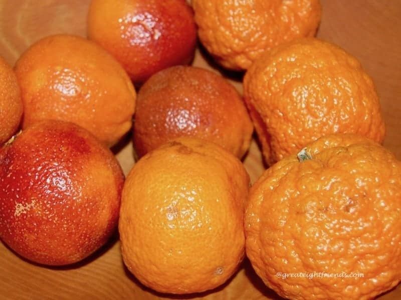 Chinese new year tangerines oranges
