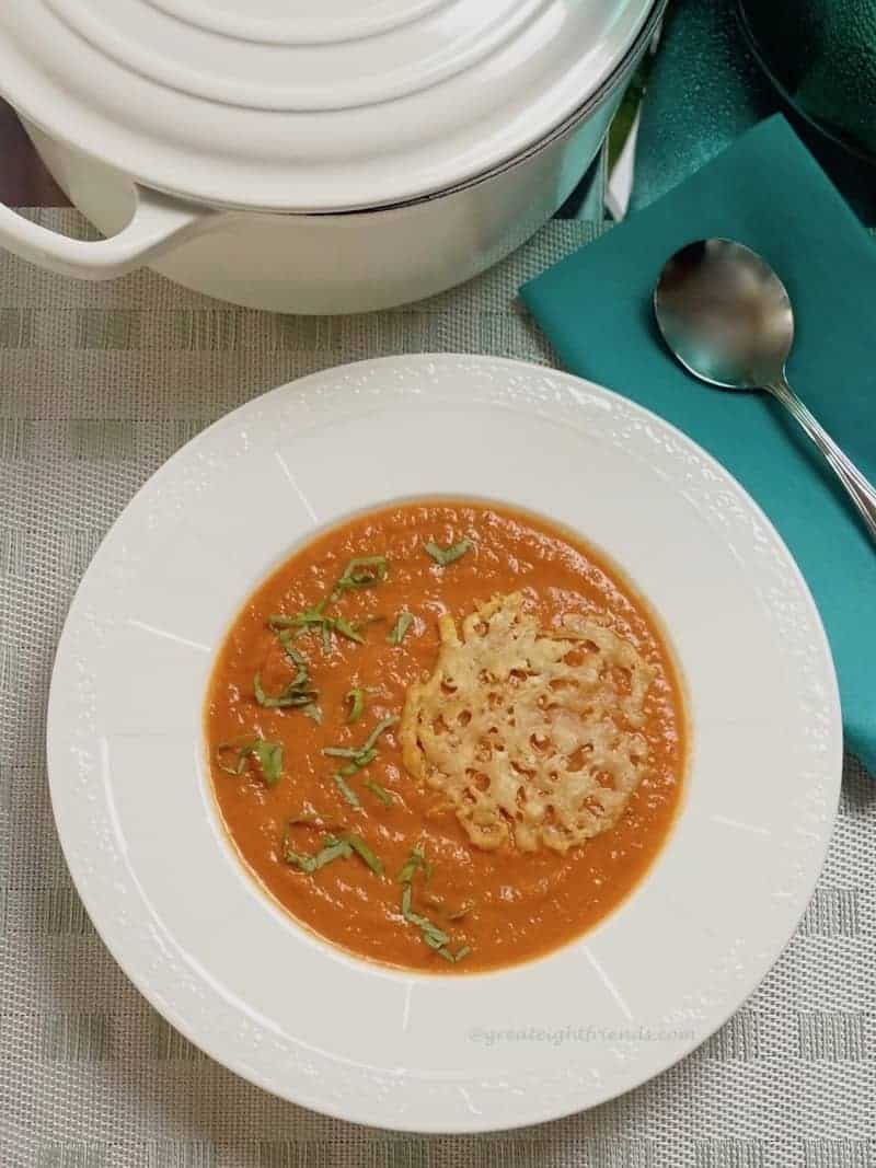 tomato soup with parmesan lace OH vert