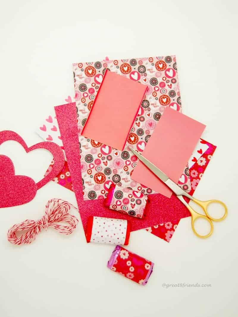 Valentine's Wrapped with Love craft supplies