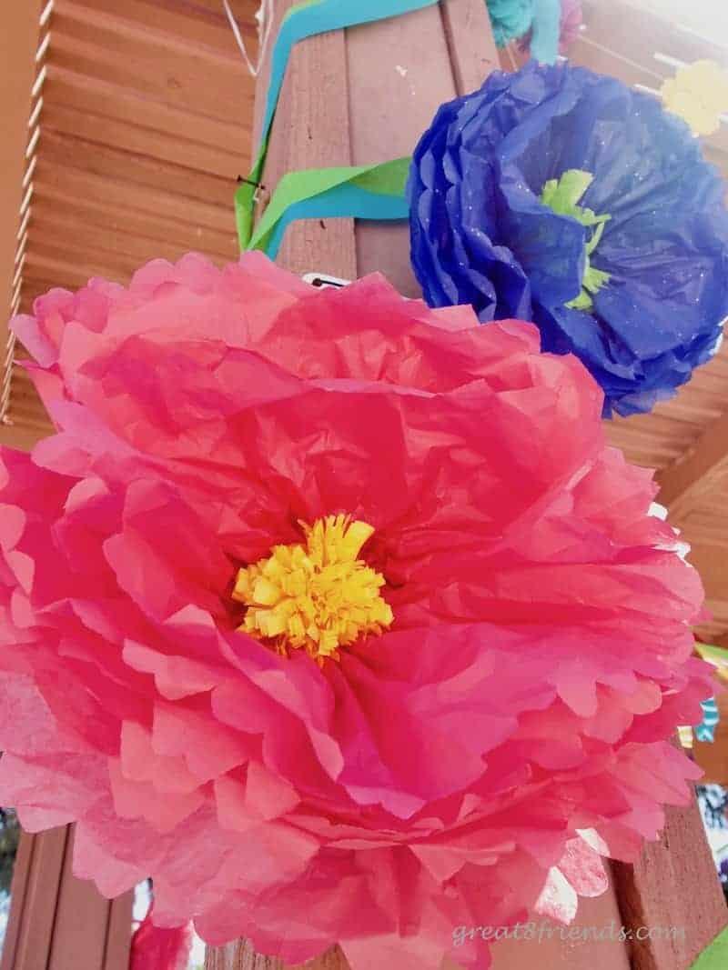 Trolls Birthday Party Pink Flower