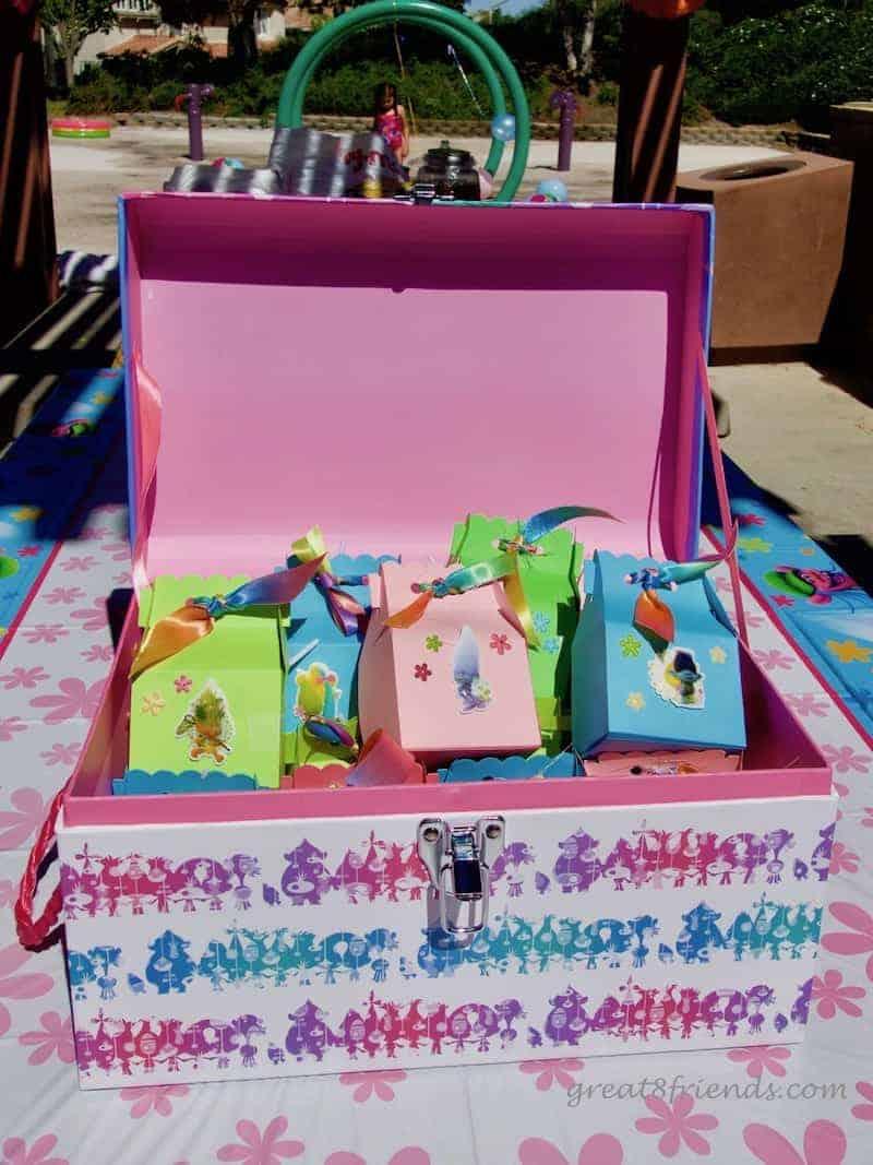 Trolls Birthday Party Treat Boxes