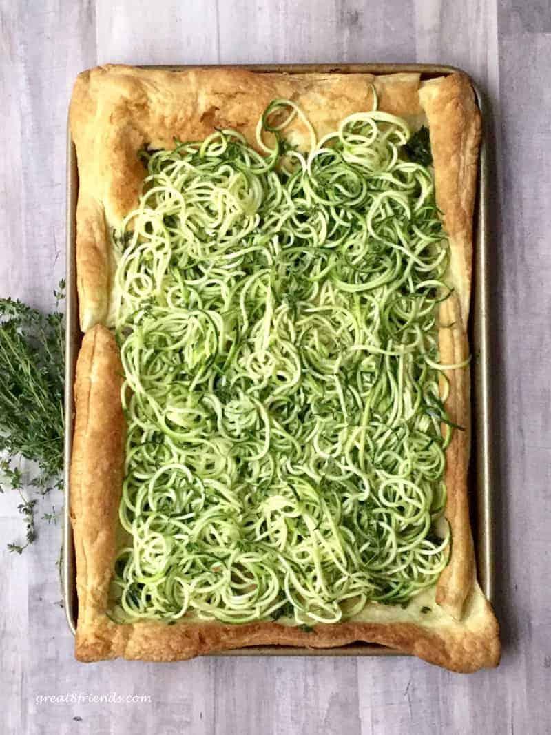 Zucchini Pesto Tart