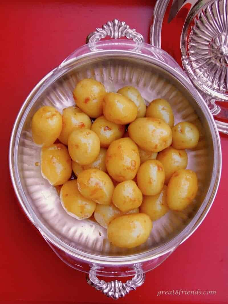These wonderfully buttery, slightly sweet Caramelized Potatoes (Karamelliseret Kartofler) are a traditional recipe served at a Danish Christmas table.