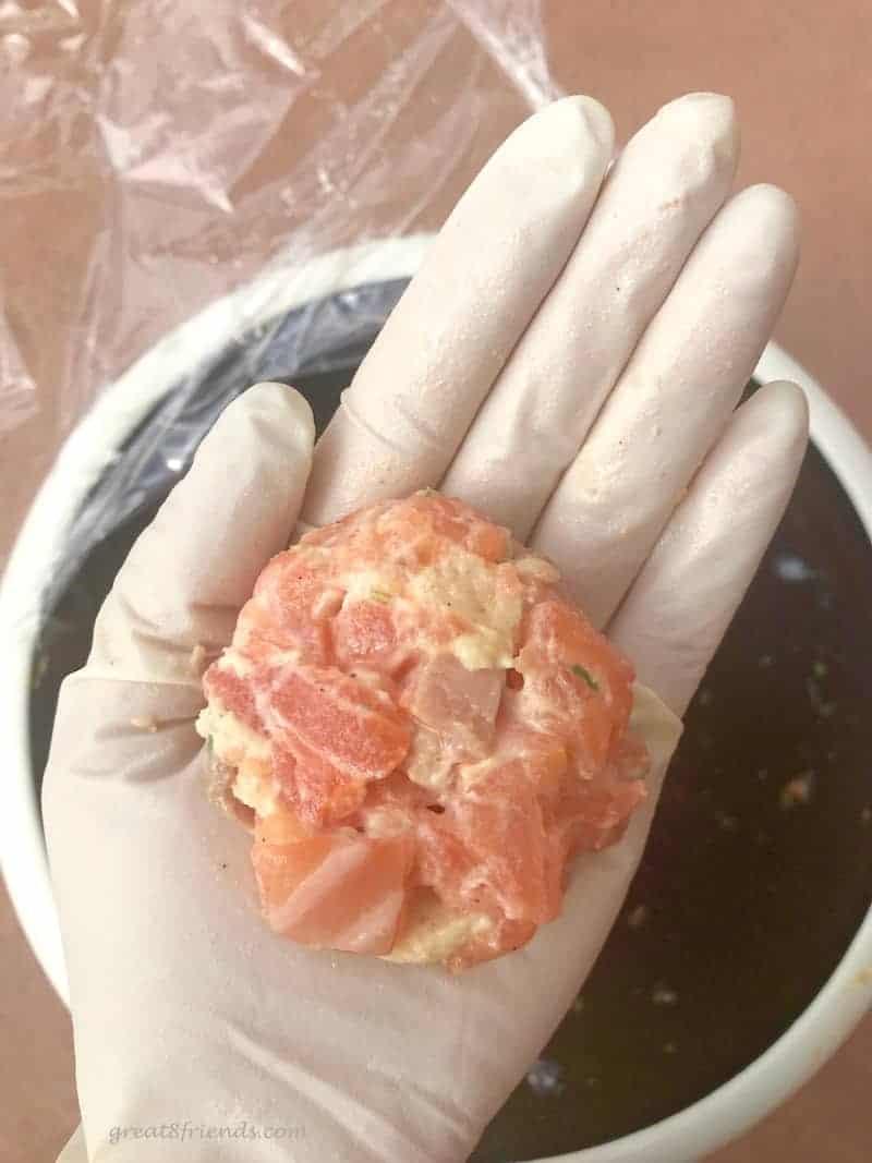 Salmon Slider raw