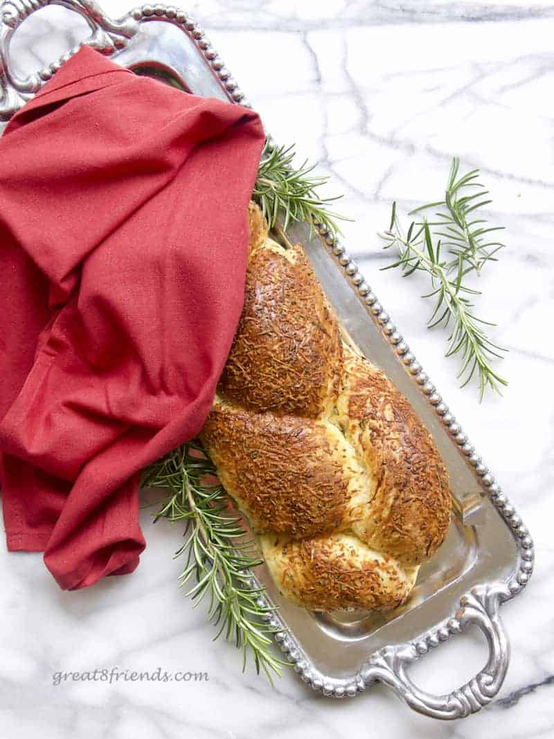 This amazing Rosemary Asiago Bread starts with frozen bread dough and becomes more delicious as you go. Breakfast, brunch, lunch or dinner...perfection!