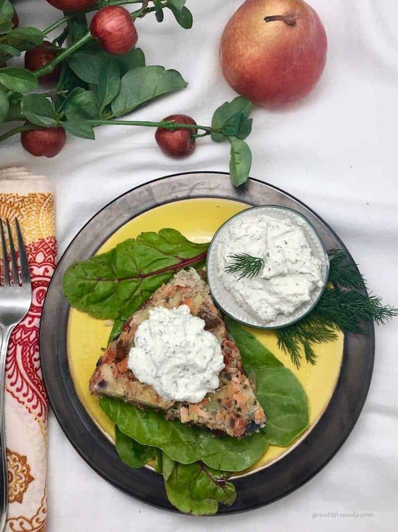 When you're looking for a delicious breakfast or brunch dish, this Salmon Hash with Horseradish Dill Sauce recipe is easy and delicious!