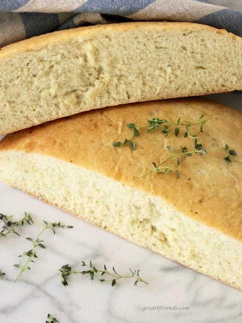 Savory Onion Thyme Focaccia Bread
