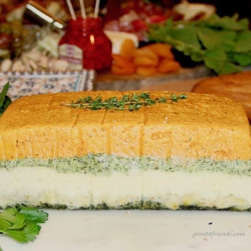 layered vegetable pâté