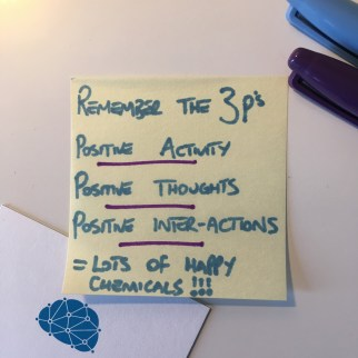 Positive activity, thoughts and interaction