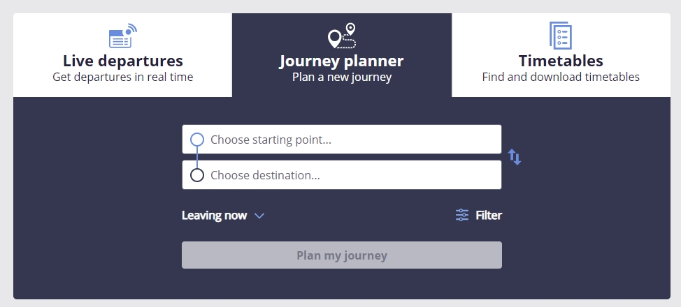 ATs journey planner - new look, same garbage results