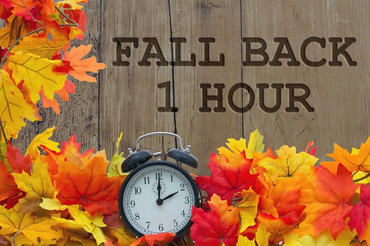 Fall Back Daylight Savings Ends November 1
