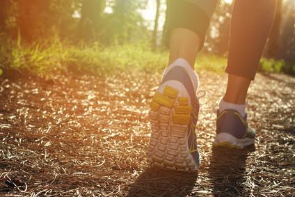 Jogger running a track