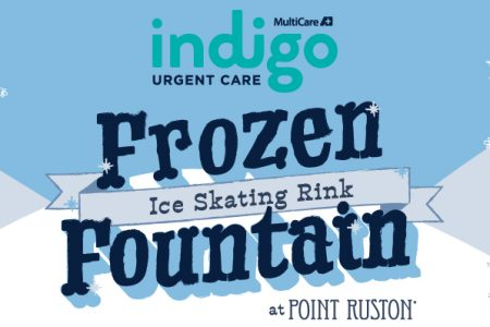 Tacoma Point Ruston ice skating rink banner