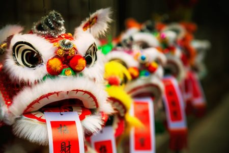 Traditional Chinese Lion for Lunar New Year - DepositPhotos.com
