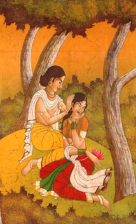 Nala Damayanti is the other story which is associated with cyclical misfortunes - called saade-saati in Indian languages.  Image source and courtesy - greatertelugu.com. Click for source image.
