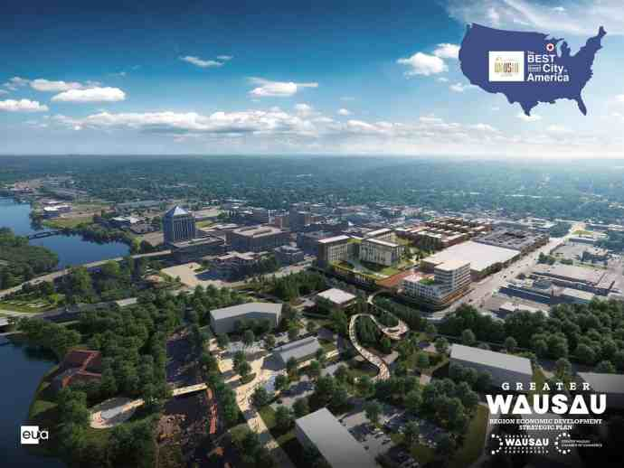 Mall redevelopment Wausau Opportunity Zone Overhead