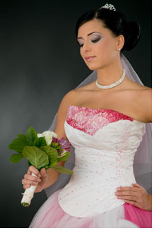 90342673b56 Wedding Dresses With Pink Accents. white wedding dresses with pink ...