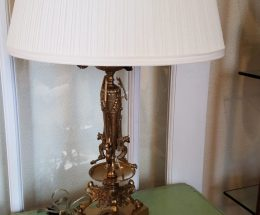 Neoclassical Style Gilt Bronze and Brass Candelabra Lamp